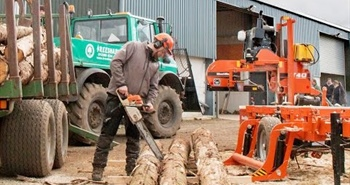 Wood-Mizer Open House in Scotland - WM1000 sawmill in action!
